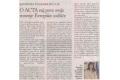 O ACTA naj pove svoje mnenje Evropsko sodišče. Št. 3/2012, str. 13.